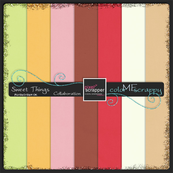 ColorMeScrappy Glitter Papers Download