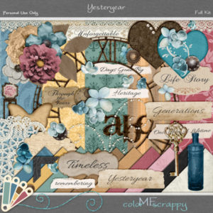 Yesteryear Digital Scrapbooking Kit Preview